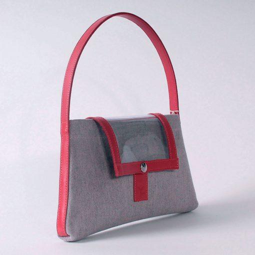 Mini Makila Toile Renaissance et cuir rouge (profil)