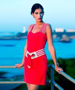 Ceinture Txomin avec robe Bayadera rouge
