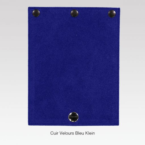 Rabat cuir Velour Bleu Klein