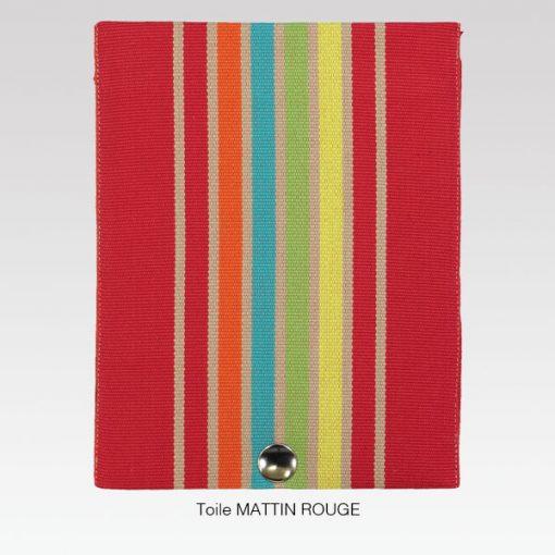 Rabat toile MATTIN ROUGE