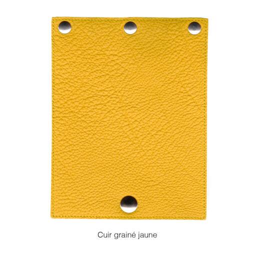 rabat en cuir grainé jaune