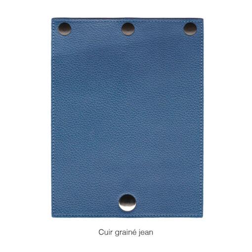 rabat en cuir grainé jean