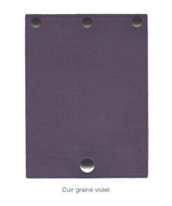 rabat en cuir grainé violet